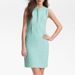 Kate Spade Dress Teal Tweed Sleeveless Cocktail 12